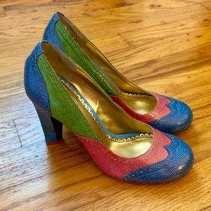 NWT Multi Color Fun Heels